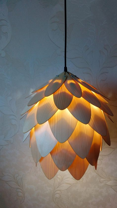 Wood Pendant Light/wood lampshade/pine cone pendant light/lamp for interior design,dining light,ceil