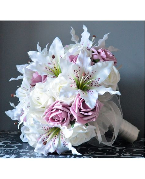 brides bouquet tiger and bridal bouquet of silk lilies
