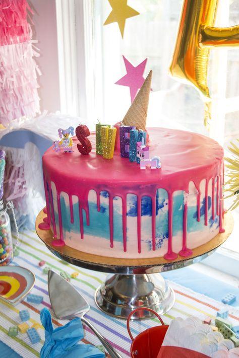 Phenomenal Adelines Unikitty Birthday Party Cake From Antoinette Baking Co Personalised Birthday Cards Veneteletsinfo