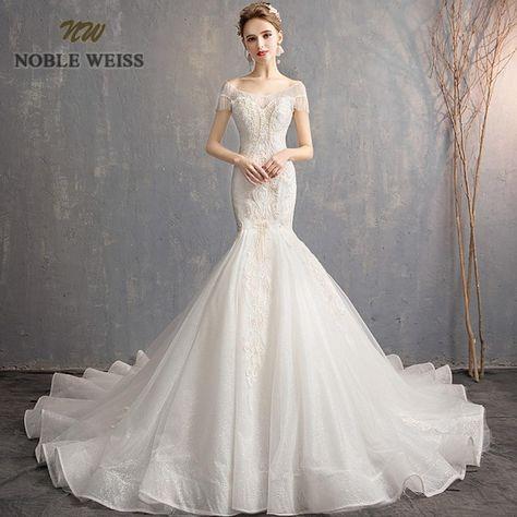 8f2db2a5a2c4 wedding dress 2019 sexy beaded mermaid wedding dresses luxury lace bridal  dress court train backless vestido de noiva sereia