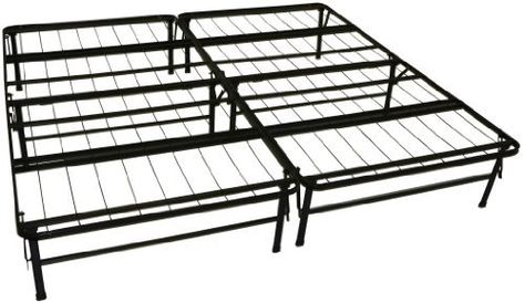 Epic Furnishings Dura Bed Heavy Duty Black Steel Platform Folding ...
