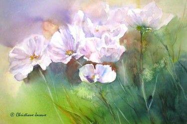 Fraicheur D Ete Aquarelle Fleurs Peinture Et Tableau Abstrait