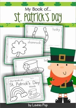 St. Patrick's Day vocabulary coloring and writing booklet