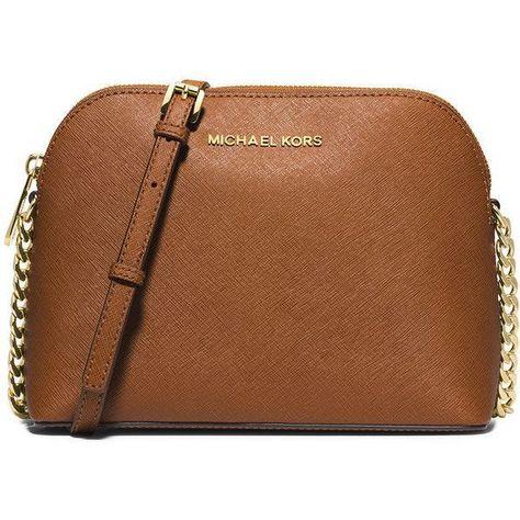5e6de940ec MICHAEL Michael Kors Cindy Large Dome Crossbody Bag ($168) ❤ liked on  Polyvore featuring