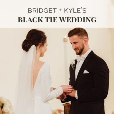 Bridget And Kyle S Black Tie Wedding Black Tie Wedding Blush Bridesmaid Dresses Wedding Shoppe