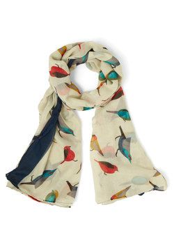 Flight on Time Scarf. Before you fly out the door, don't forget to top your outfit with this bird-print scarf for a pop of colorful pizzazz.