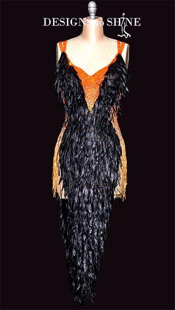 Latin Dancewear Leather Wixen L18286 Latin Dress Ballroom Dress