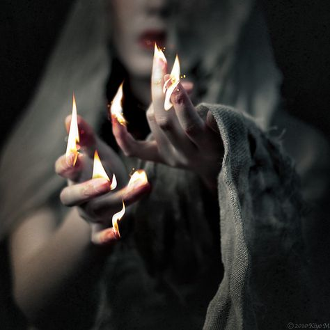 Fire Abide with Me - introducing a very talented artist from Japan. Kiyo Murakami combines photography and photo-manipulation into amazing pieces of art Wicca, Magick, Witchcraft, Story Inspiration, Character Inspiration, Hawke Dragon Age, Yennefer Of Vengerberg, Witch Aesthetic, Photo Manipulation