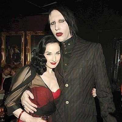 {Dita Von Teese} Dita Von Teese with Marilyn Manson