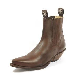 la de Sendra marron Bottines cuir en vachette de marque FKJlT1uc35