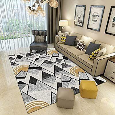 Amazon Com Dahuzi Small Carpets For Living Room Shag Rug European Style Minimalist Geometric Pattern Living Ro In 2021 Rugs In Living Room Geometric Floor Modern Room