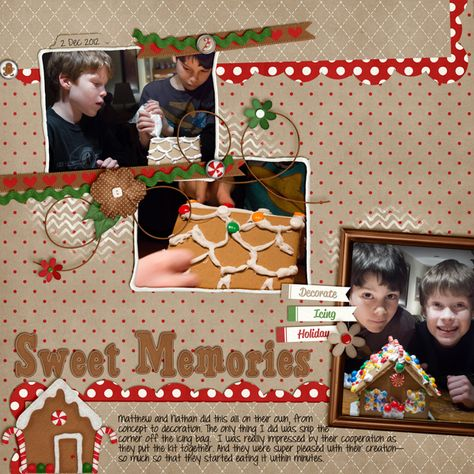 gigerbread scrapbooking  layouts | Digital Scrapbook Kit - Gingerbread | Chelle's Creations