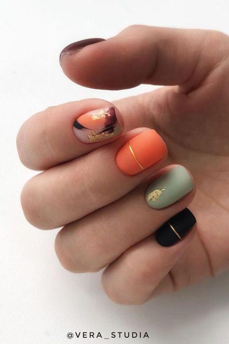 Nails Most Beautiful Fall Nail Designs 2019 Amazing autumn nails colors 2019 idea! Nails Most Beautiful Fall Nail Designs 2019