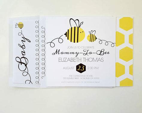 Baby Bumble Bee Shower Invitation Mommy To Bee Baby Sh Little