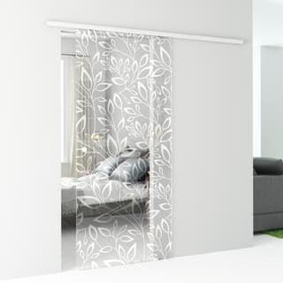Porta Scorrevole Con Binario Esterno Spring In Vetro Kit Alu L 86 X H 215 Cm In 2020 Etched Glass Door Cabin Design Home Decor