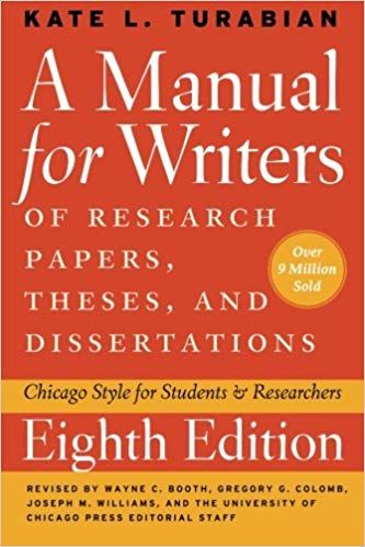 Amazon Com A Manual For Writer Of Research Paper These And Dissertation Eighth Edition Chicag Online Writing Job Thesis To Book