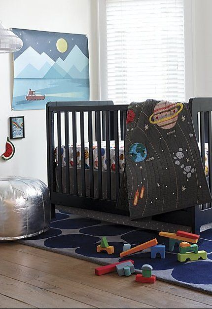 Deep Space Crib Bedding Crate And Barrel Space Baby Bedding Nursery Guest Room Space Crib Bedding