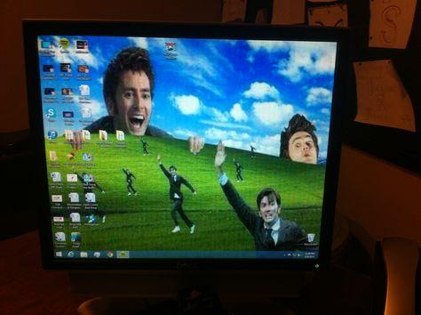 So I changed my dad's desktop background...