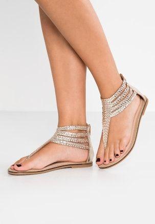5d13f7060e06 Bullboxer gold Sandales & Nu-pieds femme or | Tous les articles chez Zalando  59,95€ | chaussure en 2019 | Sandales nu pieds, Sandales et Pieds nus