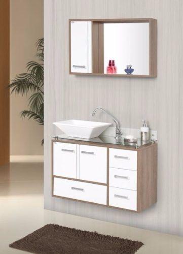 Gabinete Armário Para Banheiro Com Pia Baden Fresnobranco