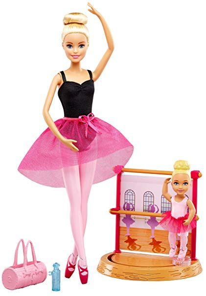Barbie DXC93 Ballettlehrerin Puppe und Spielset Barbie