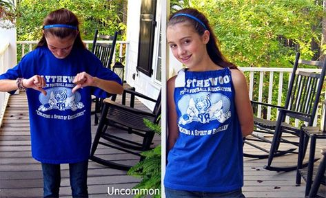 941001e0485ebd Gathered tween t-shirt. Gathered tween t-shirt. Más información. 39 Ways to Upcycle  Your ...
