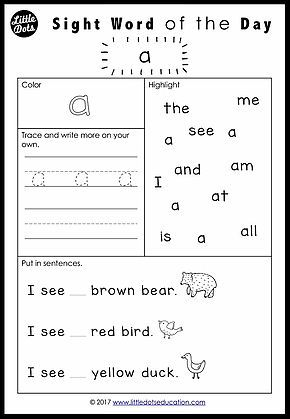 Free Pre K Dolch Sight Words Worksheets Set 1 Kindergarten Worksheets Sight Words Sight Word Worksheets Teaching Sight Words