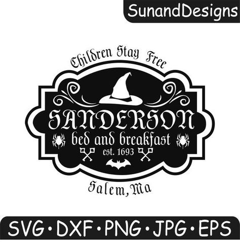 Sanderson Sisters Bed and Breakfast digital sign for Halloween shirt and wall decor Disney Hallowee - Fall Shirts - Ideas of Fall Shirts - Sanderson Sisters Bed and Breakfast digital sign for Halloween shirt and wall decor Disney Hallowee Halloween Vinyl, Disney Halloween, Halloween Shirt, Holidays Halloween, Silhouette Projects, Silhouette Design, Silhouette Cameo, Vinyl Crafts, Vinyl Projects