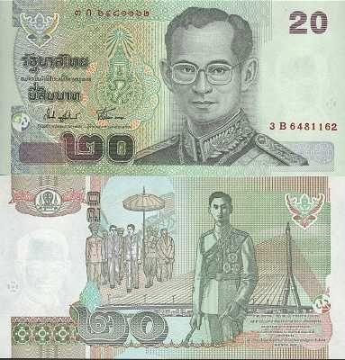 Thailand Commemorative Coin 20 Baht 2015 UNC