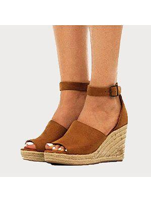 Wedge sandals, Peep toe wedge sandals