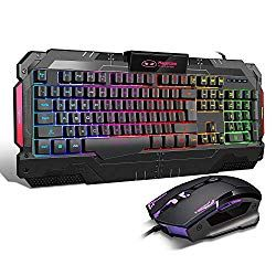Rainbow Of Led Backlit Can Switch Among Medium Light High Light Breath Mode And Turn Off By Pressing Fn And Esc Simultaneousl Keyboard Gaming Mouse Pc Computer