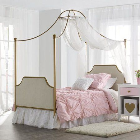 Little Seeds Monarch Hill Clementine Canopy Bed Twin Multiple