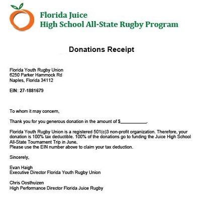 Non Cash Donation Receipt Template In Word