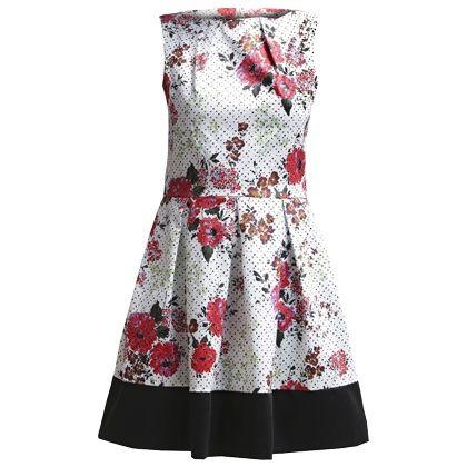 Supercooles #Kleid in #Weiß von #Closet. Es zeichnet sich durch den #Seventies Schnitt und das tolle Muster aus. ♥ ab 69,95 €