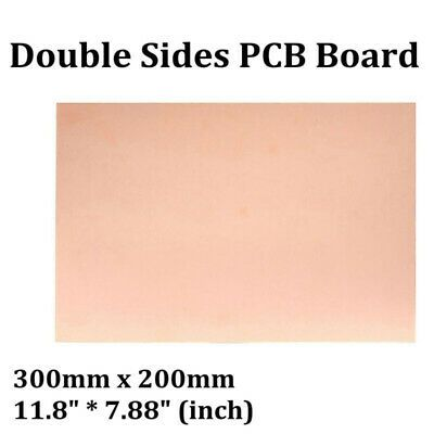 Sponsored Ebay 300x200mm Double Sided Copper Clad Pcb Fr4 Laminate Boards Fiberboard 1mm Thick In 2020 Fiberboard Laminate Double Sided