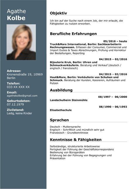Great Deutsch Cv Template Picture Di 2020 Dengan Gambar