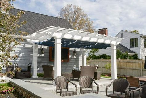 18x12 Structural Fiberglass Composite Pergola Kit 10 Sq Columns Infinity Canopy Featuring Pfifertex Plus Pergola Pergola Ideas For Patio Pergola Shade