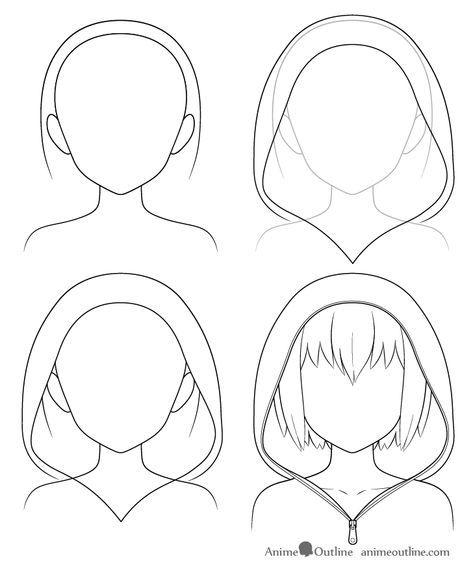 How To Draw Anime Hats Head Ware Animeoutline In 2020 Anime Drawings Tutorials Anime Drawings Manga Drawing Tutorials