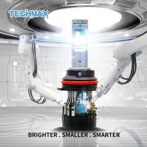 Techmax Mini 9007 Led Headlight Bulb 60w 10000lm 4700lux 6500k Cool White Extremely Bright 30mm Heatsink Base Cree Chips Hi Lo With Images Headlight Bulbs Headlights Bulb