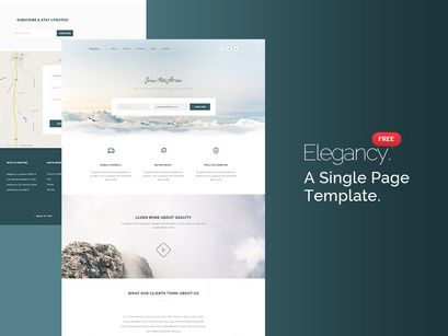 Elegancy Single Page Template Psd In 2020 With Images Page Template Templates Web Design