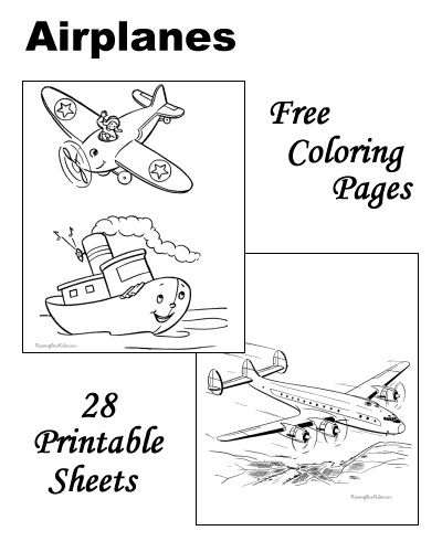 Coloring Pages Airplanes Preschool. Coloring pages of airplanes and jets  189 best airplane images on Pinterest Aircraft Airplane