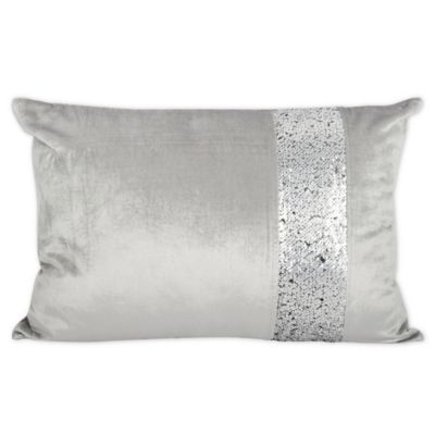 S&C Border Solid Oblong Throw Pillow in