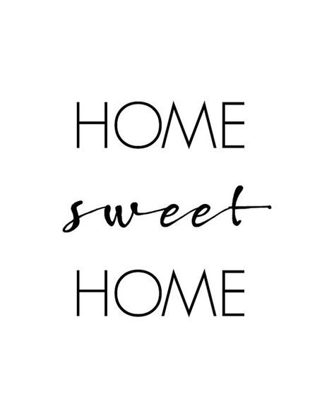 Home Sweet Home Printable Wall Art Home Quote Home Typography