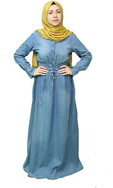 عباية كاجوال جينز تركي خصر عالي ازرق Clothes Pinterest Fashion Fashion