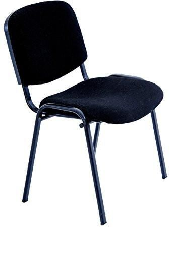 Black Modern Stacking Office Chairs In Comfortable Fabric Cloth