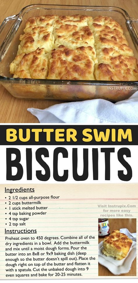 Biscuits Swimming In Butter? Yes, Please. Now, THIS is some serious comfort food! I could eat one of these buttery homemade biscuits every day for breakfast, lunch and dinner. You wouldn't believe how good they are with a little gravy or jelly spread over top. This recipe is surprisingly quick and easy, and with the exception of the buttermilk, it has super simple ingredients that you probably already have on hand. My family loves them! Great for the holidays or special occasions.