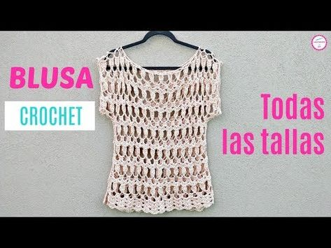 850 Crochet Blusas Video Ganchillo Blusas Ganchillo Croché