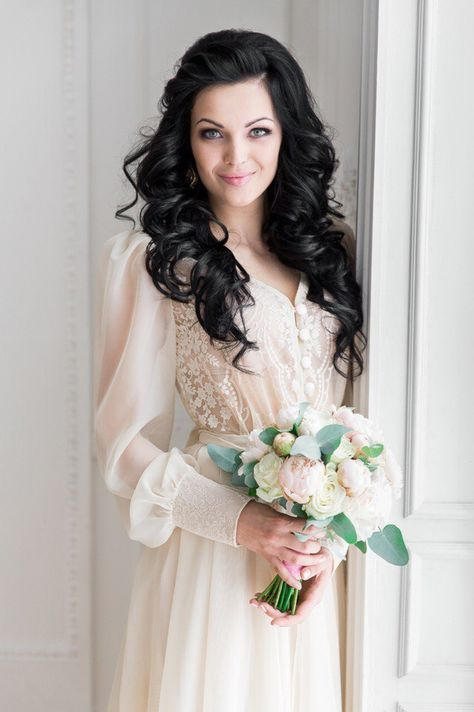 Natalya Nosova Vintage Gelinlikler Elbise Dugun Sifon Gelinlikler