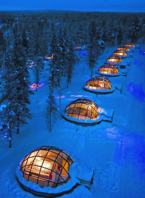 Rent a Glass Igloo in Finland to Watch the Northern Lights.on my next visit to Europe I want to do this! travel destinations You Can Rent A Glass Igloo In Finland To Watch The Northern Lights Lappland, Destination Voyage, Europe Destinations, Us Honeymoon Destinations, Honeymoon Hotels, Future Travel, Travel List, Travel Bucket Lists, Travel Europe