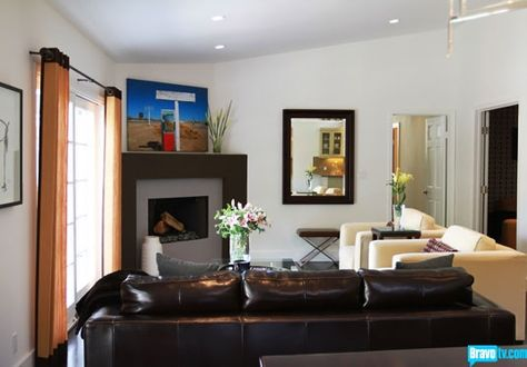 Small E Living Corner Fireplace Jeff Lewis Design Flipping Out